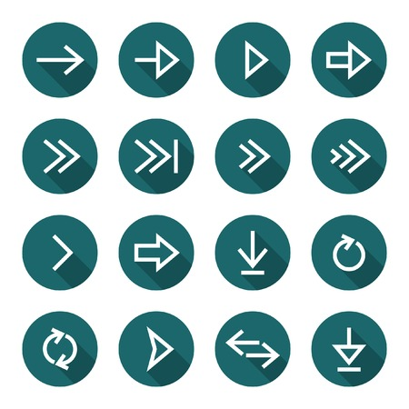 simplistic icon: Arrow icon set  Illustration