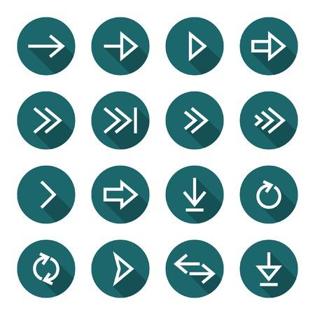 Arrow icon set  Illustration