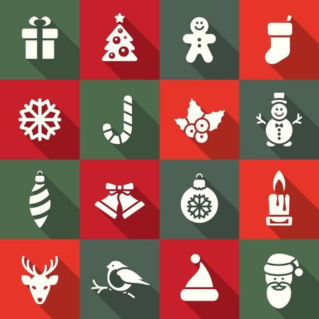 christmas sock: Christmas icon set