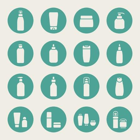 kit design: Cosmetic bottle icons