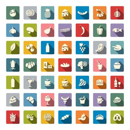 Food icon set Stock Illustratie