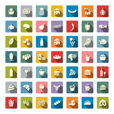 Food icon set Vettoriali