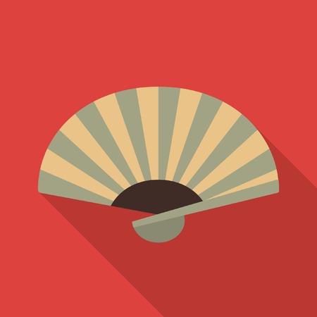 open fan:  japanese fan icon