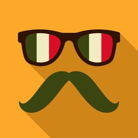 mexican glasses icon