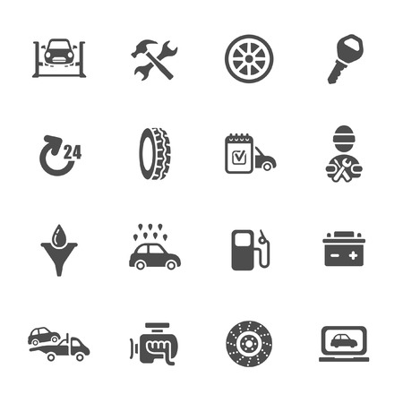 spare: Car service icon set