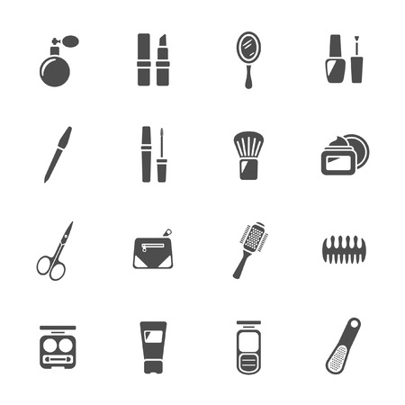 Beauty and makeup icons  Vector