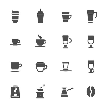 percolator: Coffee icons  Illustration