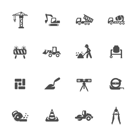 Construction icons Vettoriali