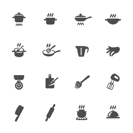 pinch: Cooking icon set  Illustration