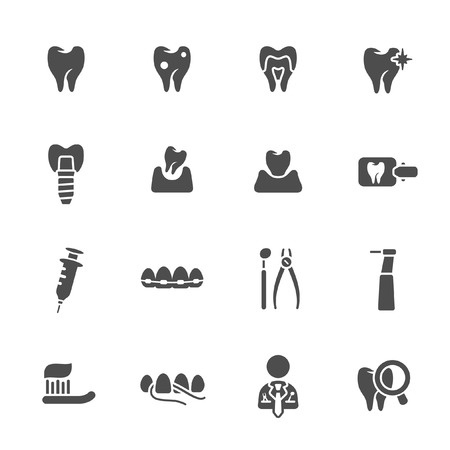 rotten teeth: Dental theme icons