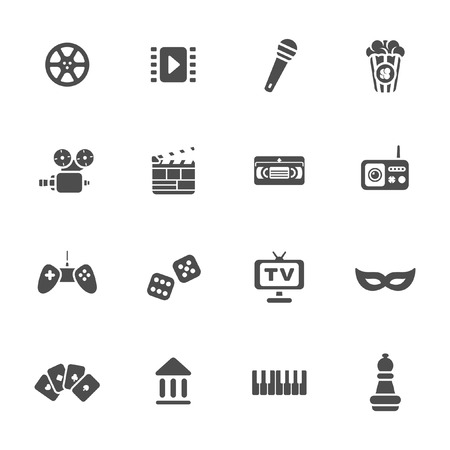 piano roll: Multimedia icons vector set