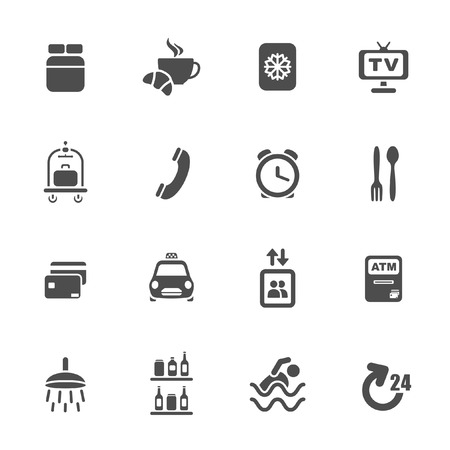 minibar: Hotel services icons