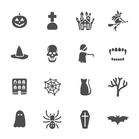haunted house: Halloween theme icons  Illustration