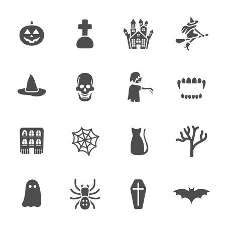 haunted house: Halloween theme icons  Illustration