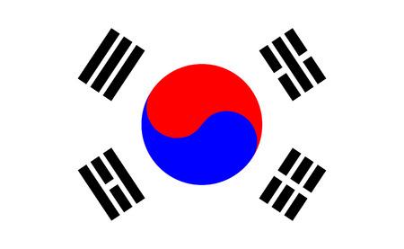 korea flag: Korean flag