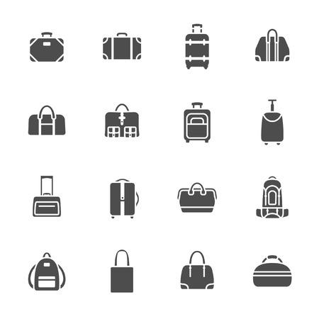 Baggage icon set  Vector