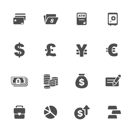 Finance and money theme icons set  Vector