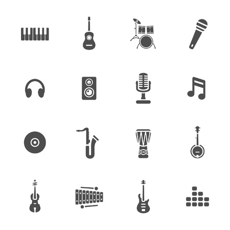 piano roll: Music icons