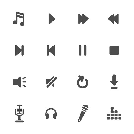 pause button: Music player icons