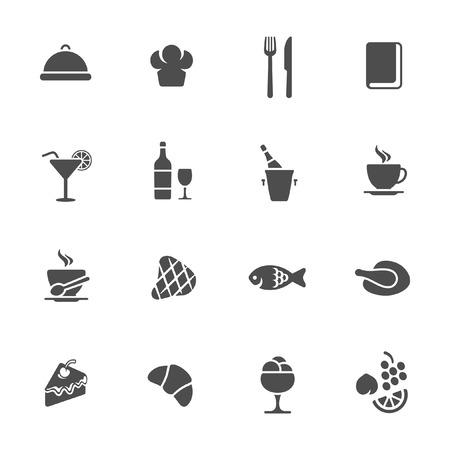 main course: Restaurant icons  Illustration