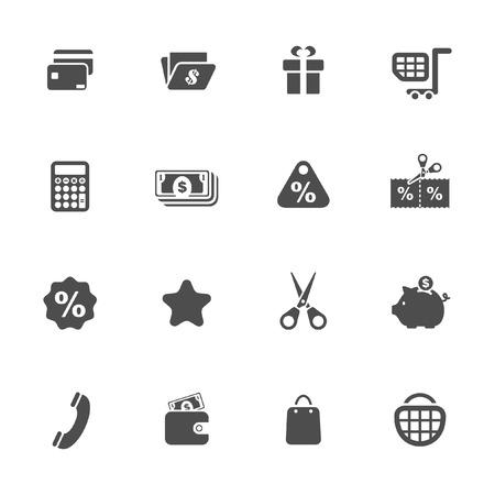 Los iconos de Compras Foto de archivo - 30689677
