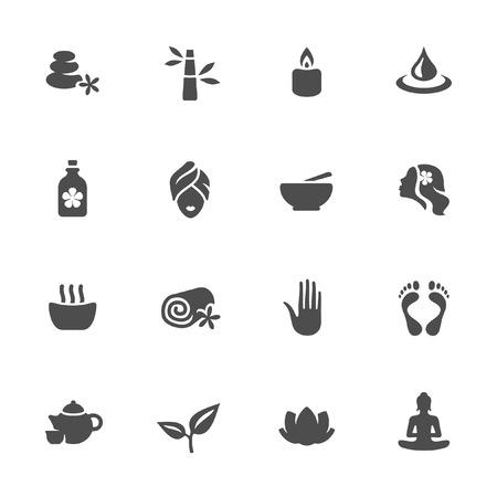 Spa conjunto de iconos