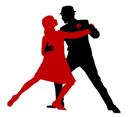 bailes de salsa: Bailarines de tango Vectores