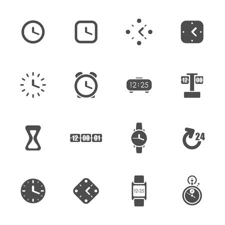 digital timer: Clocks and time theme icon set
