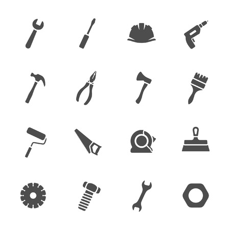 putty: Tools icons set