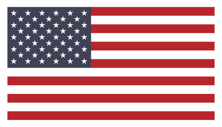 banderas americanas: bandera americana Vectores