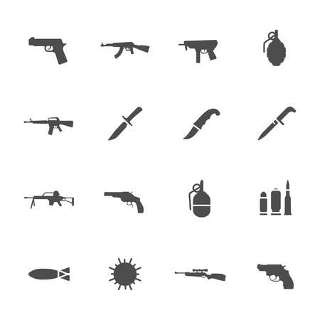 truncheon: Weapon icons Illustration