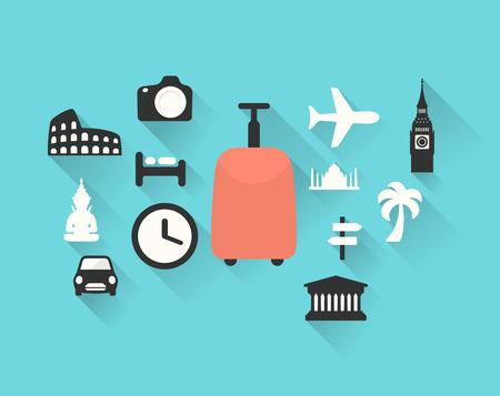 Travel theme vector illustration Ilustração