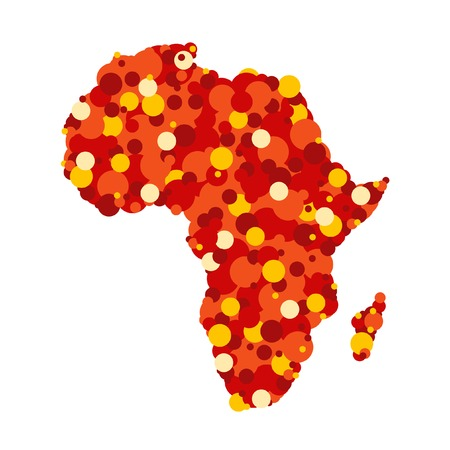 Abstract map of Africa Illustration