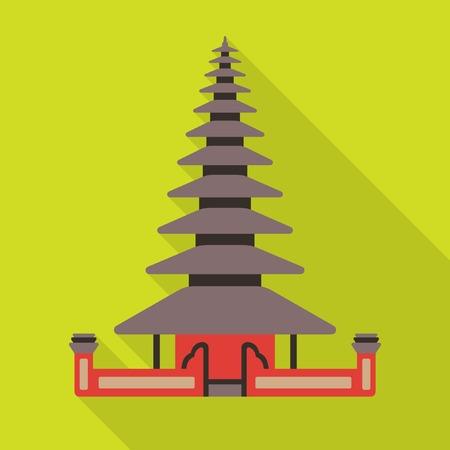 indonesia culture: Bali temple icon Illustration