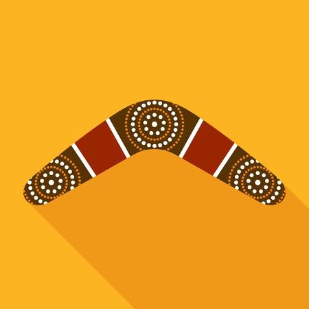 Boomerang icoon Stock Illustratie