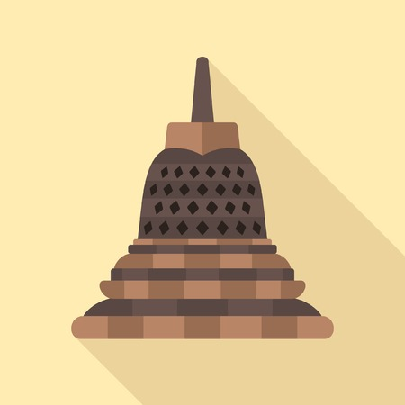 stupa: Borobudur icon Illustration