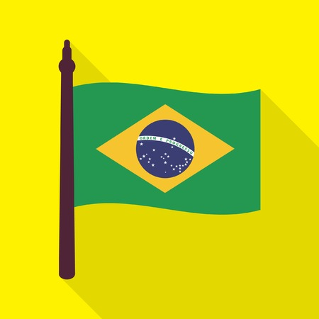 brazilian flag: Brazilian flag icon Illustration