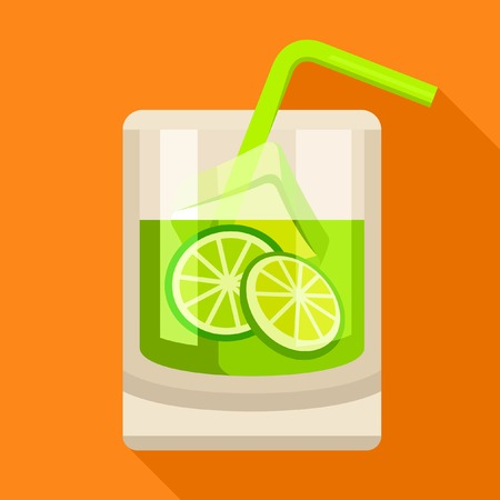 caipirinha: Caipirinha cocktail icon Illustration
