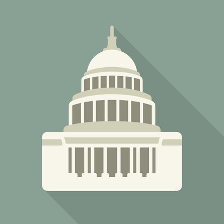capitel: Capitol icono de la construcción del vector