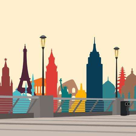 sights: World landmarks city