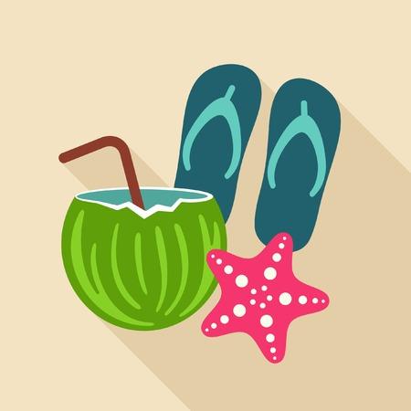 flops: Summer vacation vector icon