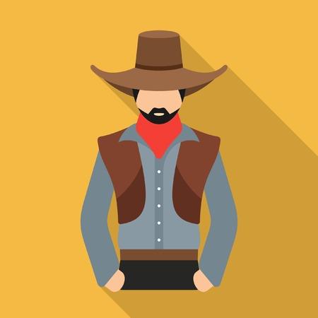 Cowboy vector icon Vector