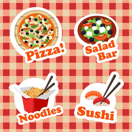 bar magnet: Food stickers