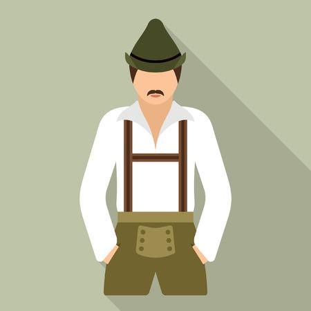 corpulent: German man Illustration