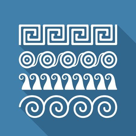 dividing: Greek ornaments