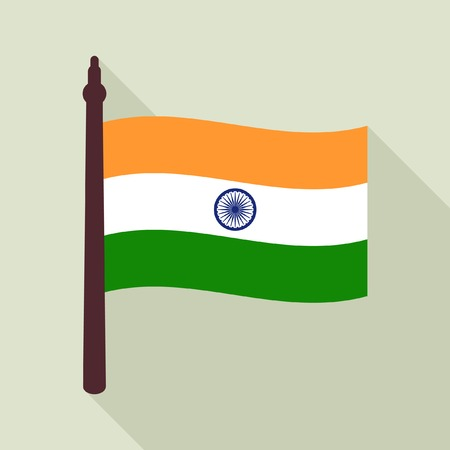 objects with clipping paths: Indian flag icon
