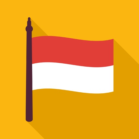 the indonesian flag: Indonesian flag icon