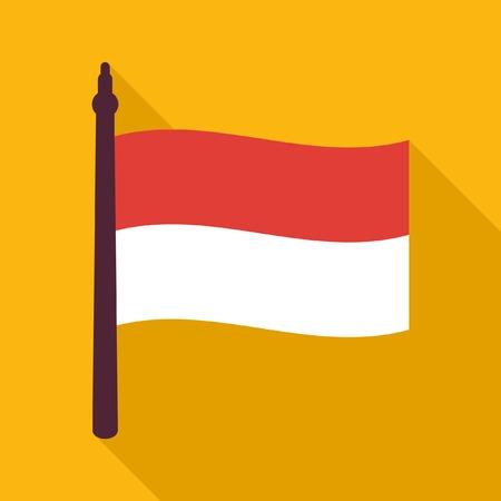 indonesisch: Indonesische vlag pictogram Stock Illustratie
