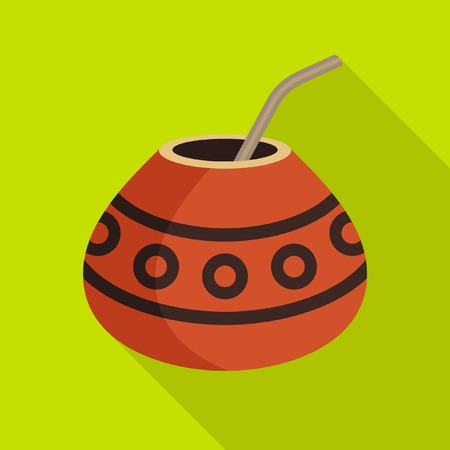 mate drink: Yerba Mate Illustration