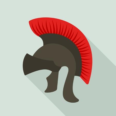 legionary: Roman legionary helmet vector icon Illustration